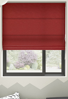 Maurice, Red - Roman Blind