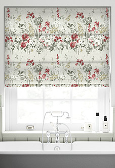 Wild Meadow, Ruby - Roman Blind