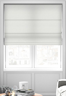 Windsor, White - Roman Blind