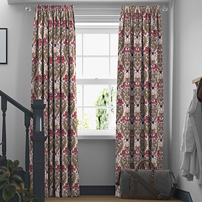 Acanthus, Cherry - Made to Measure Curtains