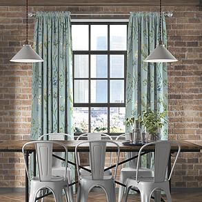 Allium, Slate Blue - Made to Measure Curtains
