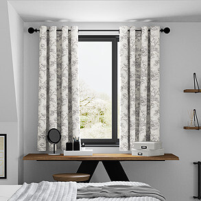Aquataine, Charcoal - Made to Measure Curtains