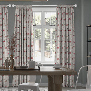 Baa Baa, Peony - Made to Measure Curtains