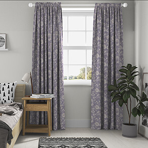 Bird Garden, Lavender - Made to Measure Curtains