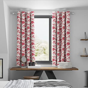 Bird Garden, Peony - Made to Measure Curtains