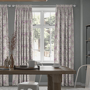 Bowland, Hydrangea - Made to Measure Curtains