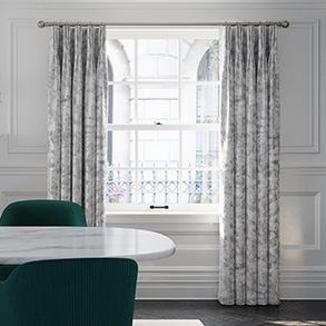 Crushed Velvet, Silver Grey - Made to Measure Curtains