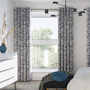 Crushed Velvet, Steel - Made to Measure Curtains
