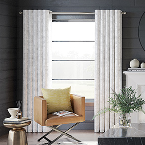 Crushed Velvet, White - Made to Measure Curtains