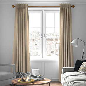 Devonshire, Biscuit - Made to Measure Curtains