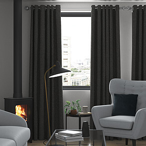 Devonshire, Charcoal - Made to Measure Curtains