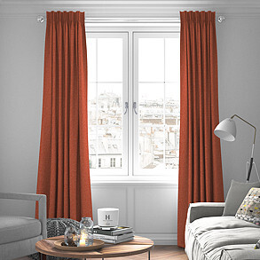 Devonshire, Terracotta - Made to Measure Curtains