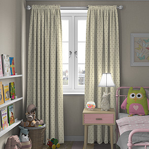 Dotty, Natural - Made to Measure Curtains