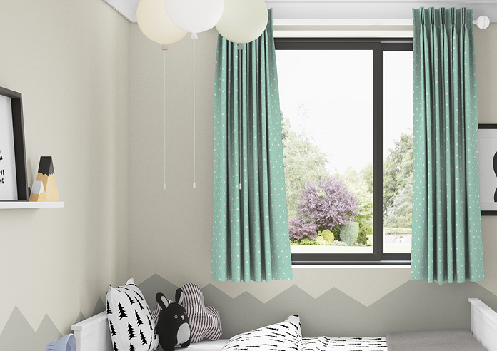Dotty, Seafoam - Made to Measure Curtains