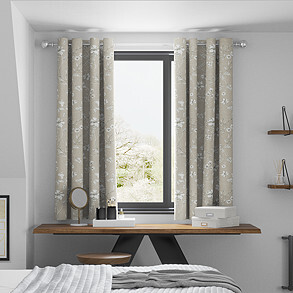 Etched Vine, Sandstone - Made to Measure Curtains