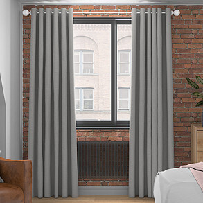 Faux Silk, Silver - Made to Measure Curtains