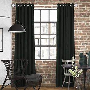 Faux Suede, Bottle Green - Made to Measure Curtains