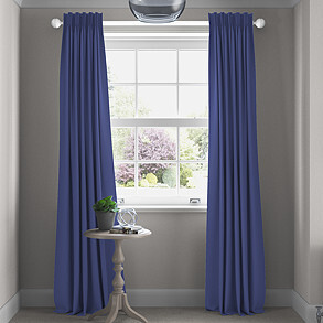 Faux Suede, Cornflower - Made to Measure Curtains