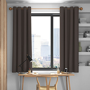 Faux Suede, Dark Chocolate - Made to Measure Curtains