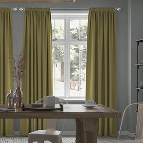 Faux Suede, Olive - Made to Measure Curtains