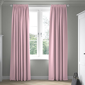 Faux Suede, Pastel Pink - Made to Measure Curtains