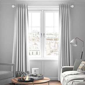 Faux Suede, White - Made to Measure Curtains