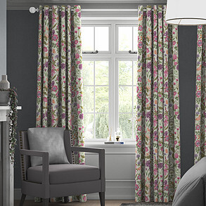Field Flowers, Copper - Made to Measure Curtains