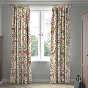Field Flowers, Rouge - Made to Measure Curtains