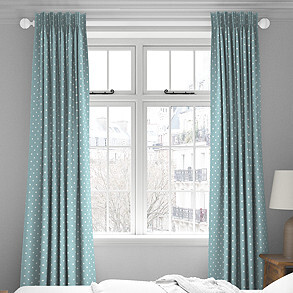 Full Stop, Marine - Made to Measure Curtains