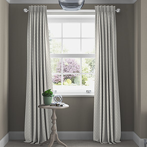 Full Stop, Silver - Made to Measure Curtains