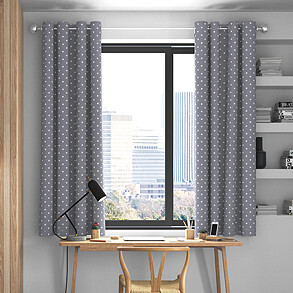 Full Stop, Slate - Made to Measure Curtains