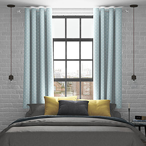Full Stop, Smoke - Made to Measure Curtains