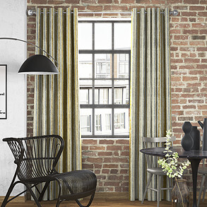 Guarda Stripe, Ochre - Made to Measure Curtains