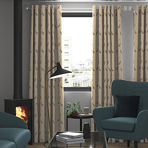 Hartley, Natural - Made to Measure Curtains