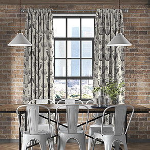 Helix, Grey - Made to Measure Curtains