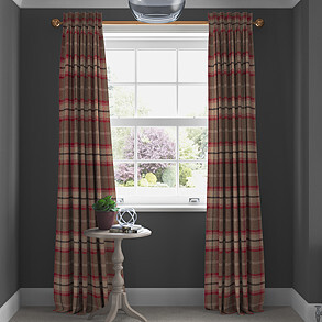 Highland, Rosso - Made to Measure Curtains