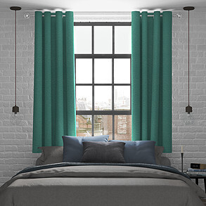 Kent, Peacock - Made to Measure Curtains