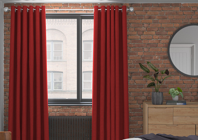 Knightsbridge, Scarlet - Made to Measure Curtains