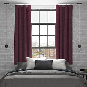 Maurice, Aubergine - Made to Measure Curtains