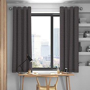 Maurice, Charcoal - Made to Measure Curtains