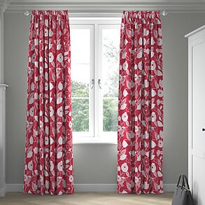 Nordic, Scarlet - Made to Measure Curtains