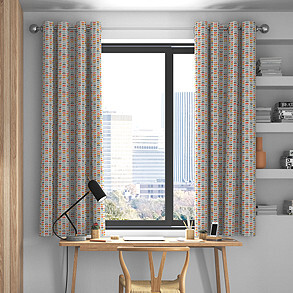 Odense, Burnt Orange - Made to Measure Curtains
