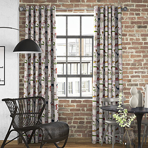 Oh My Deer, Berry - Made to Measure Curtains