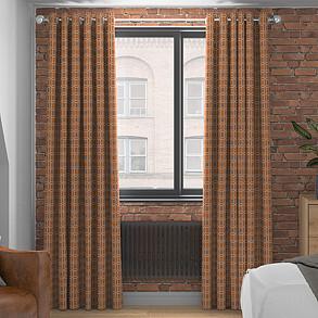 Pavillion, Burnt Orange - Made to Measure Curtains