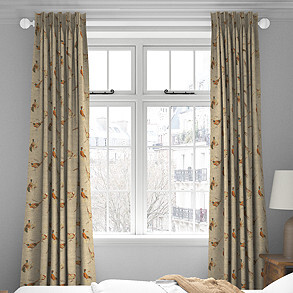Pheasant, Natural - Made to Measure Curtains