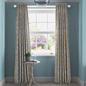 Scandi Sprig, Tangerine - Made to Measure Curtains