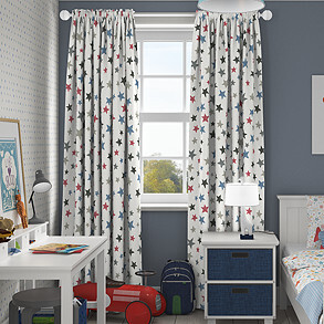 Superstar, Graphite - Made to Measure Curtains