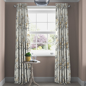 Wild Meadow, Charcoal - Made to Measure Curtains