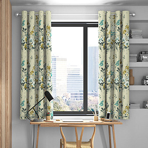 Wild Meadow, Pistachio - Made to Measure Curtains