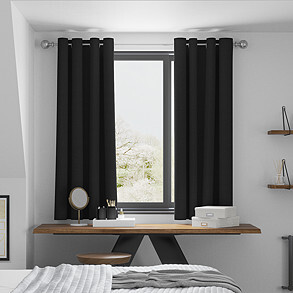 Windsor, Black - Made to Measure Curtains